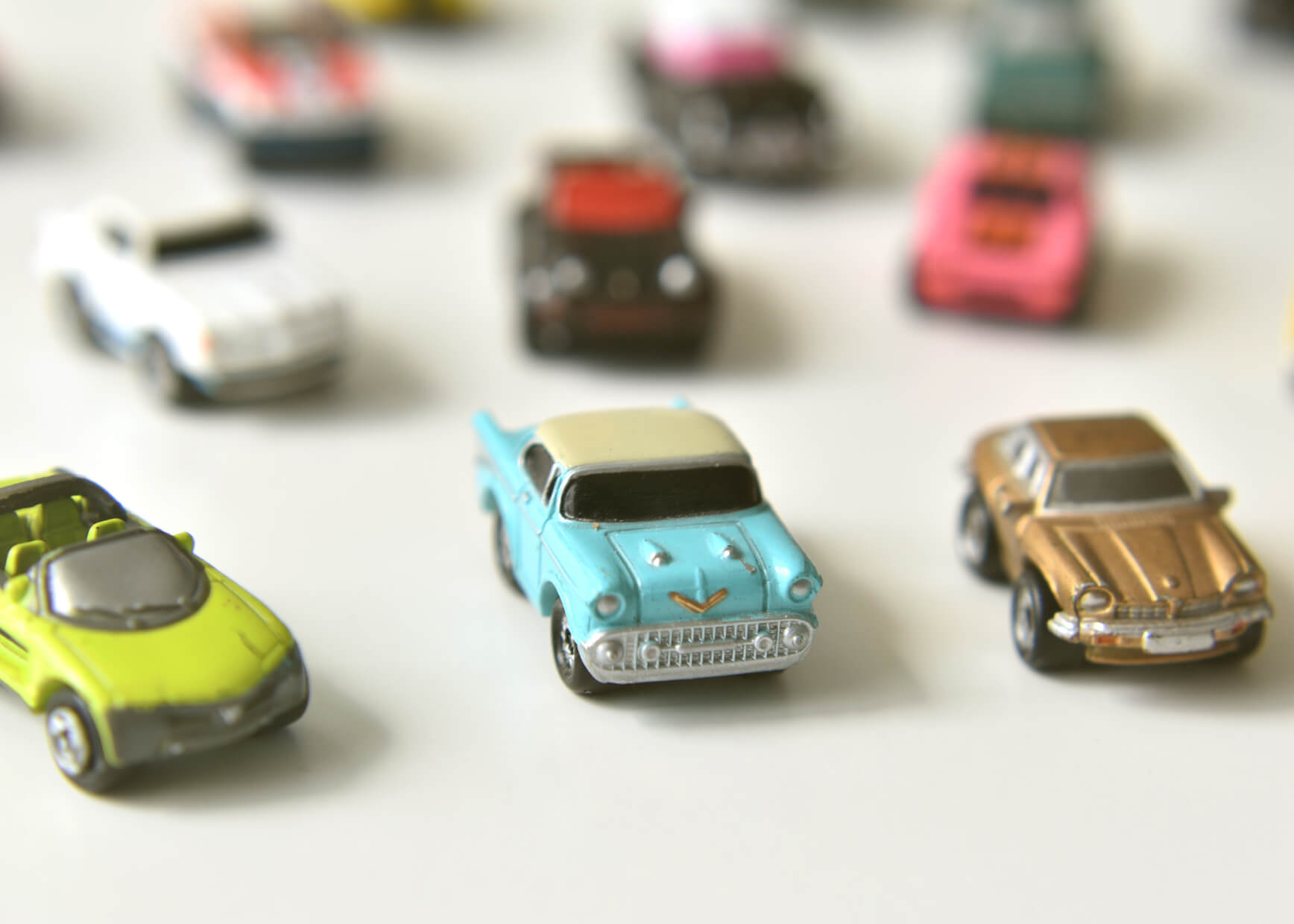 Photo of small toy cars.